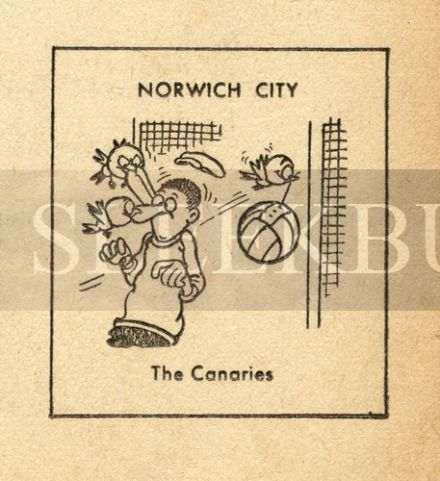 VINTAGE Football Print NORWICH CITY - THE CANARIES Funny Cartoon